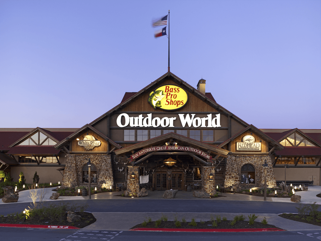 Mha bass pro shops outdoor world san antonio texas for Bass fishing in san antonio